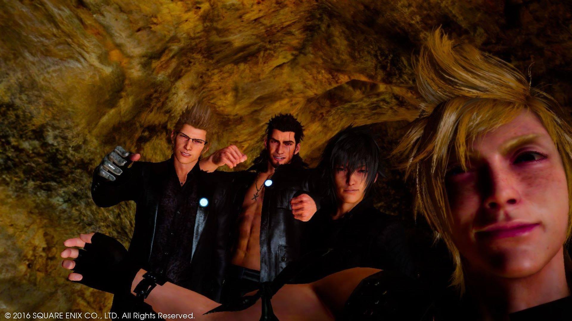 Final Fantasy XV in game selfie