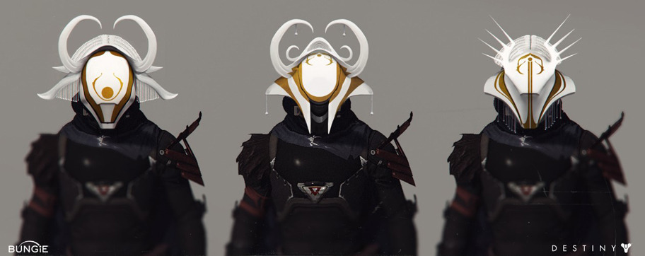 Destiny The Dawning showing guardians in three new helms