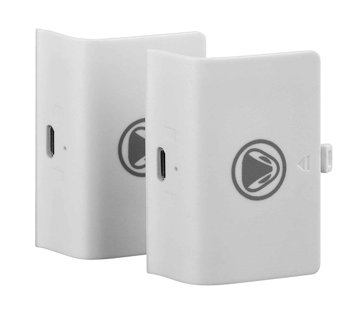 White double pack of Snakebyte Xbox One Battery Kit
