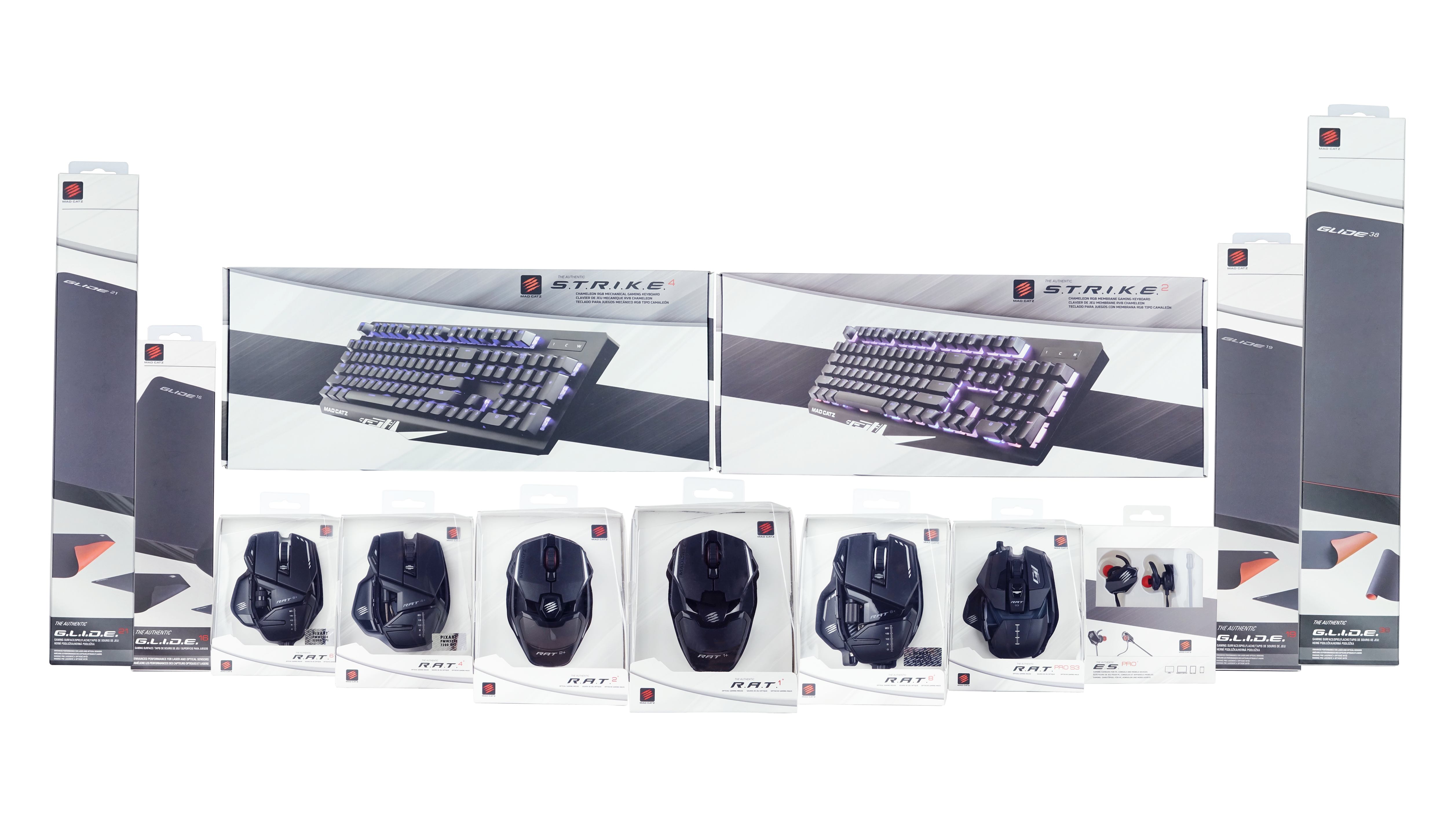 Mad Catz full product range including the S.T.R.I.K.E. keyboards