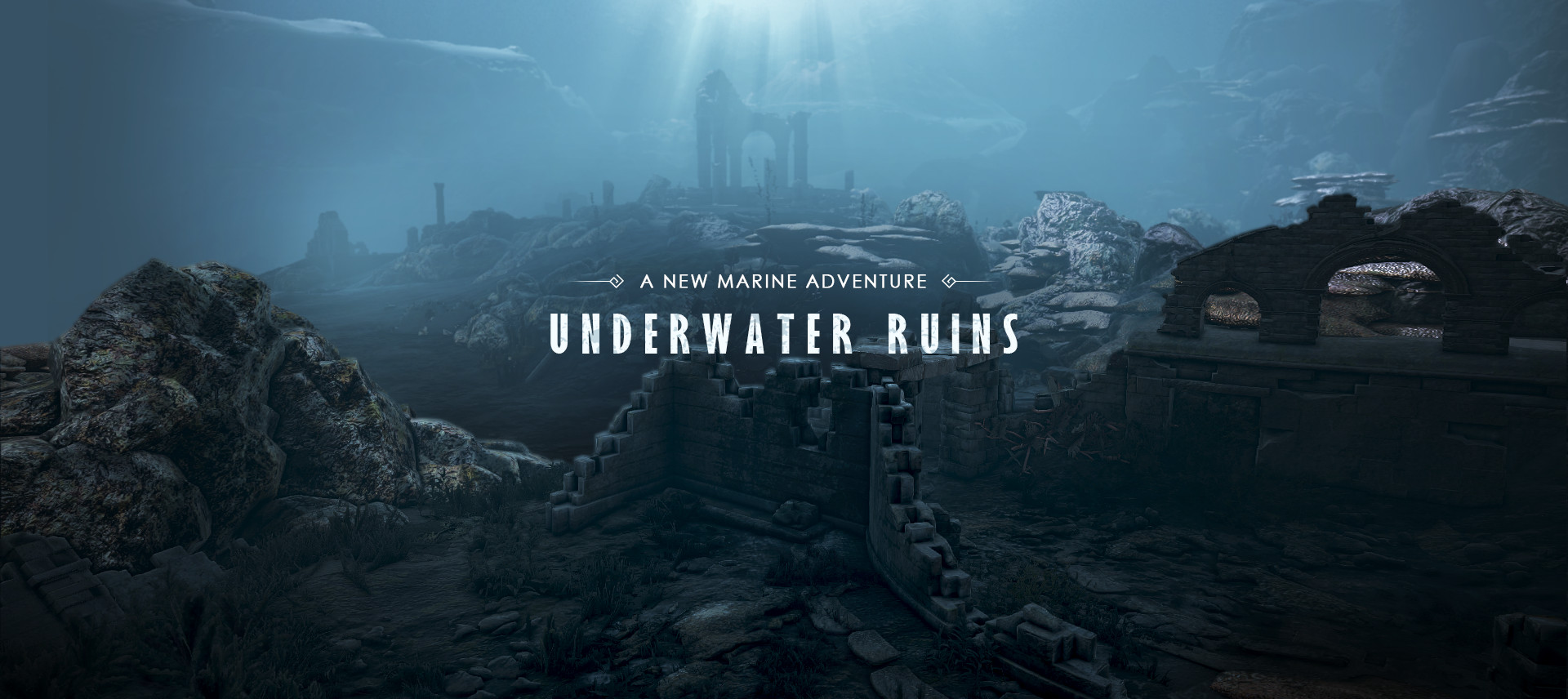 Pearly Abyss's Underwater Ruins DLC logo