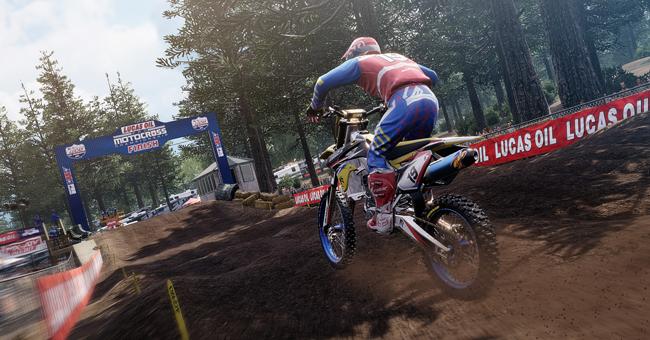 MX Sports Pro Racing dirtbikes on mud track