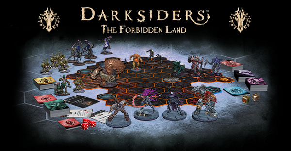 The official Darksiders: The Forbidden Land board game logo