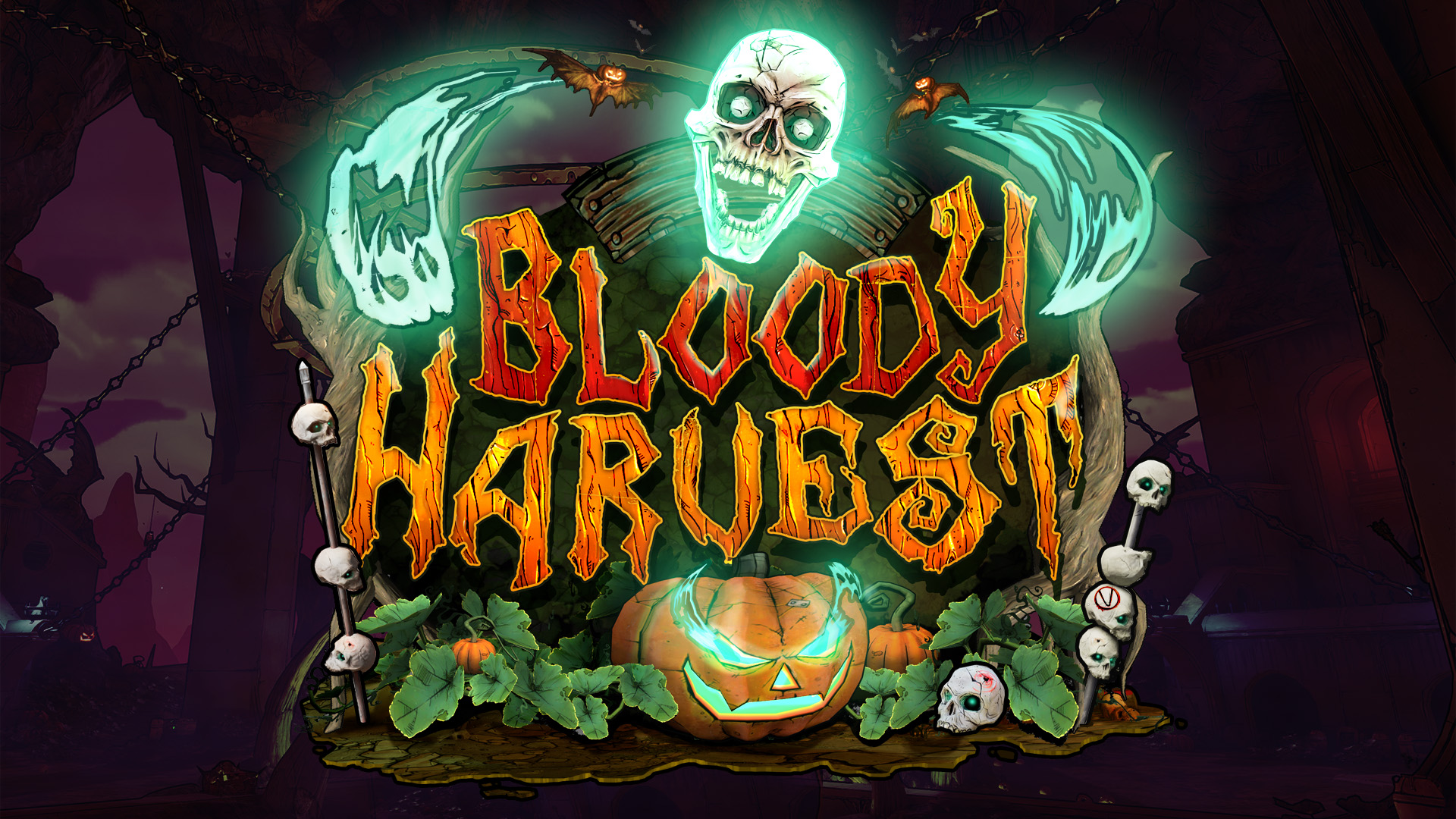 Bloody Harvest logo from Borerlands 3