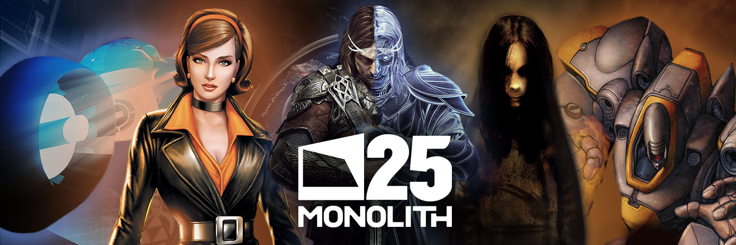 Monolith Productions 25th Anniversary Banner