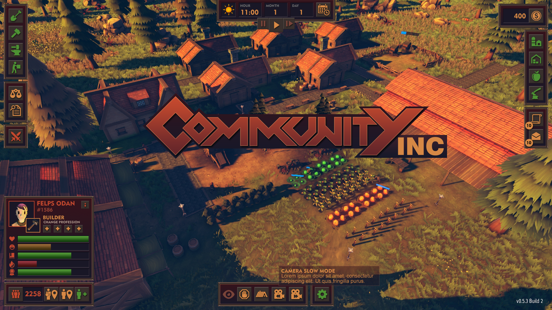 Community Inc new User Interface with logo