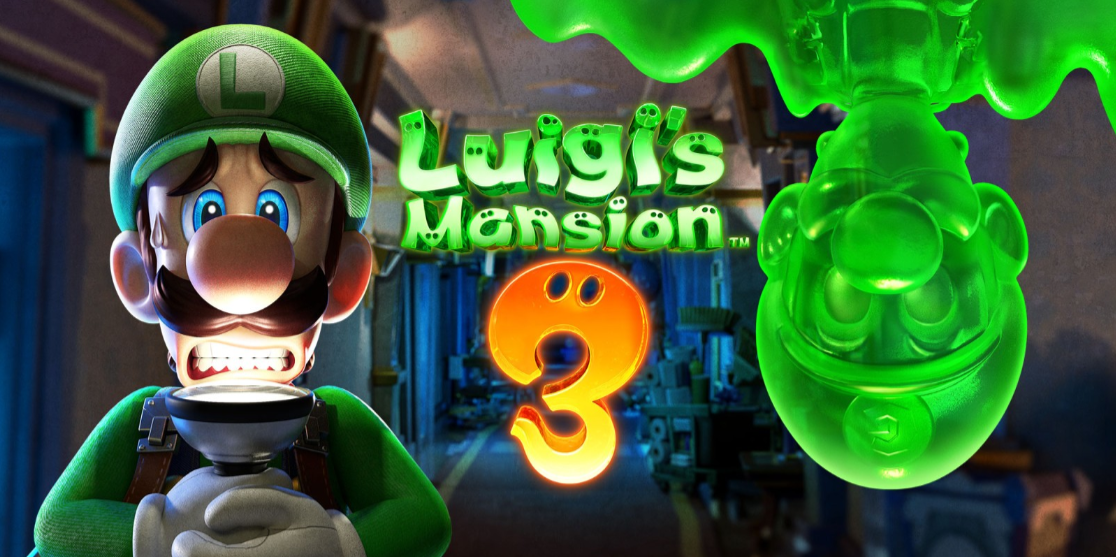 Luigi's Mansion 3 logo and artwork