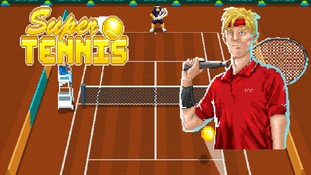 Super Tennis logo and artwork