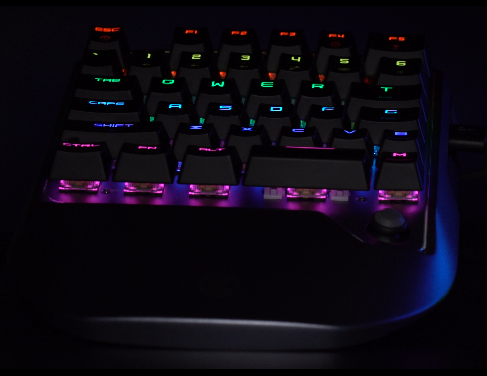 GameSir VX2 close up with RGB lighting
