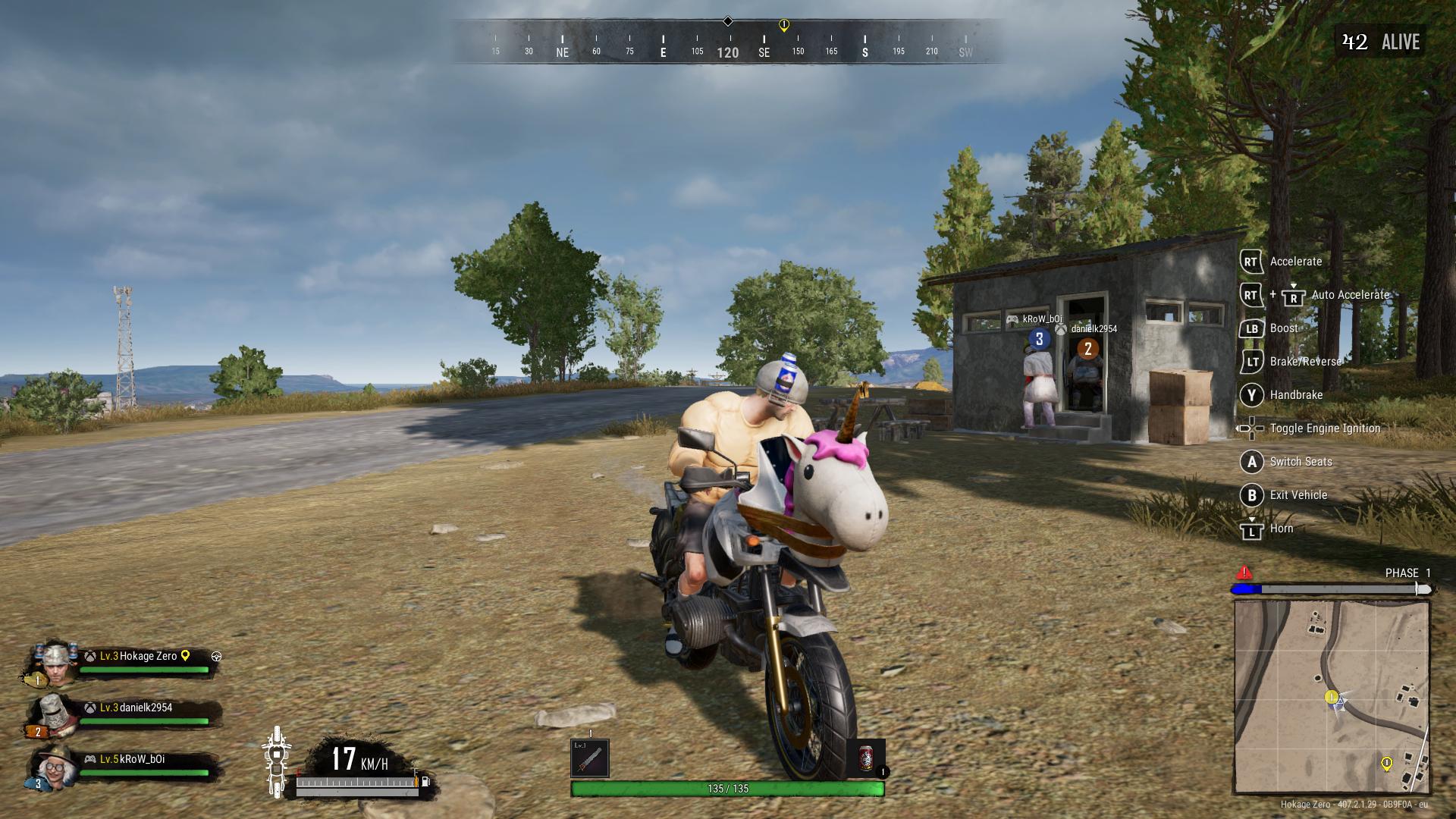 PUBG unicorn motorbike