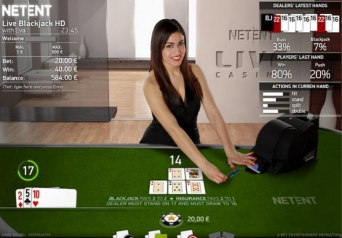 Live Blackjack being played online, a great way to make contact with people duribng self-isolation