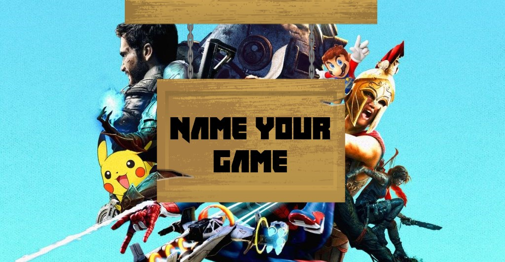 The Name Your Game giveaway banner
