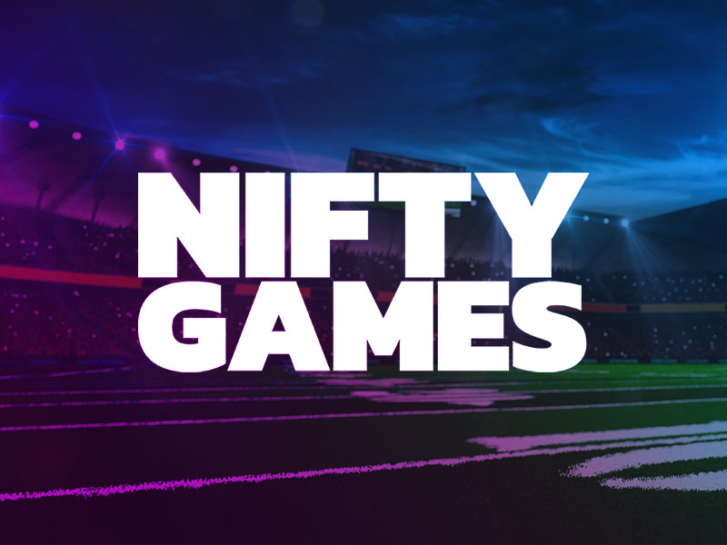 Nifty Games logo with an American Football pitch in the background