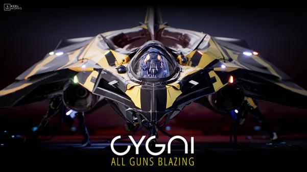 CYGNI: All Guns Blazing Logo