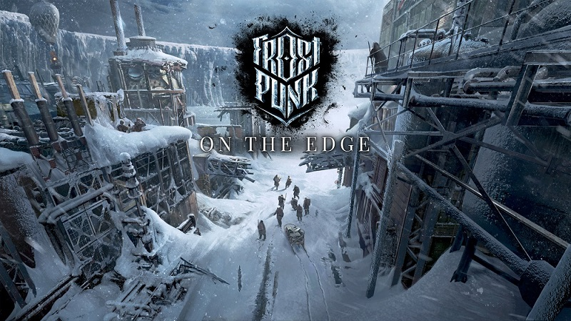 Frostpunk On The Edge logo and artwork.