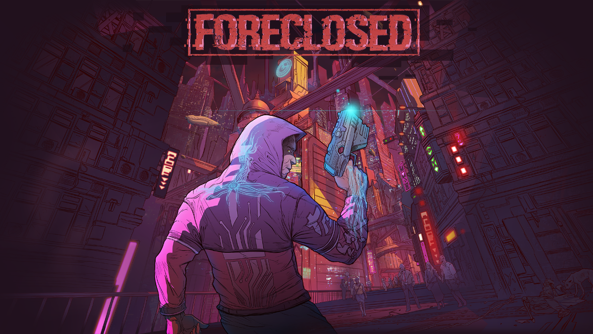 Foreclosed logo and artwork
