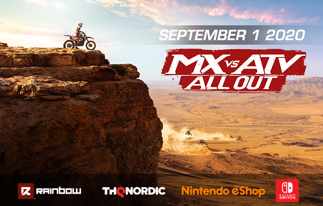 MX v ATV All Out on Nintendo Switch September 1st, 2020