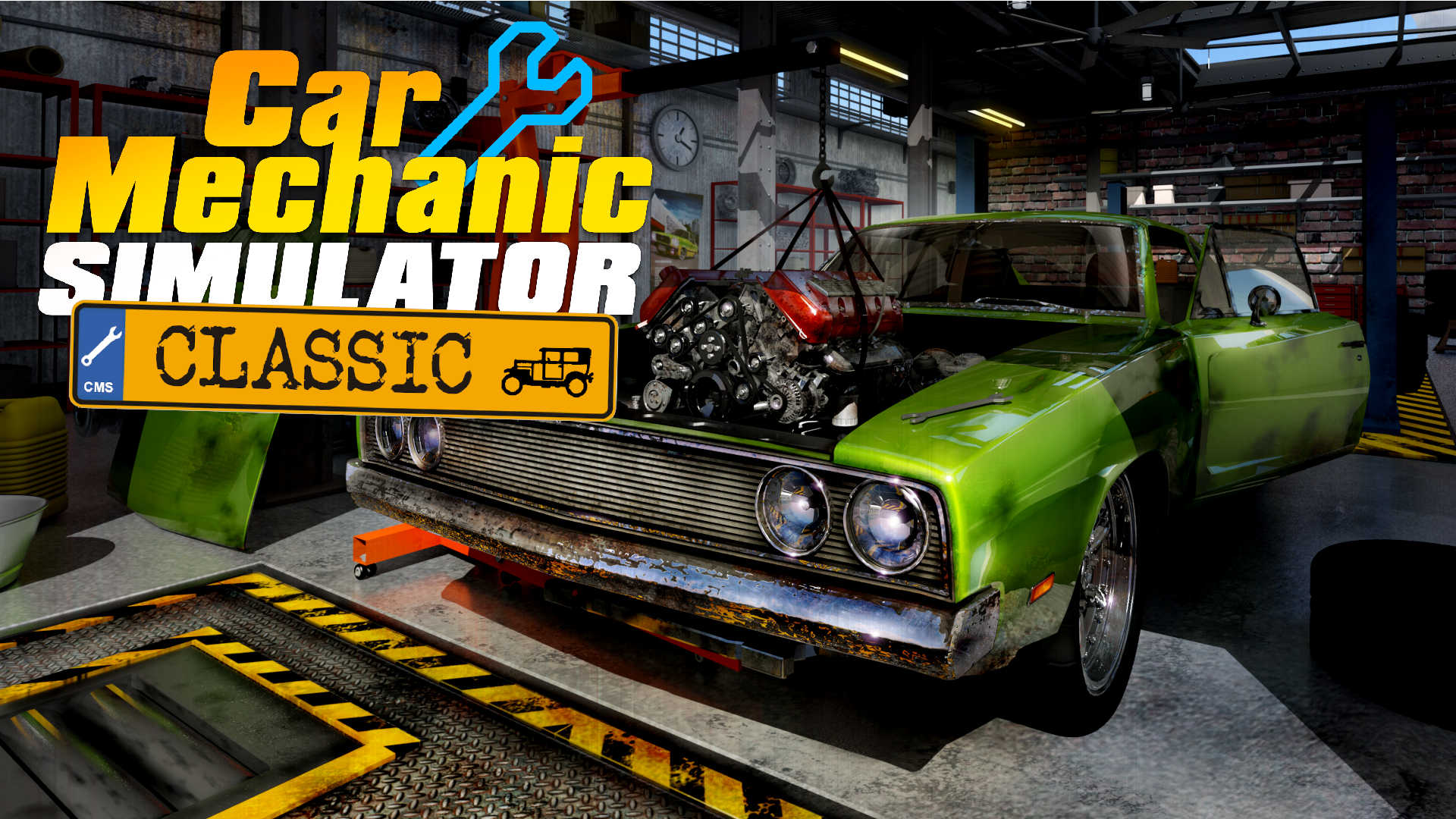 Car Mechanic Simulator Classic logo and artwork