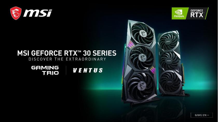 MSI unveils first custom NVIDIA GeForce RTX 30 Series