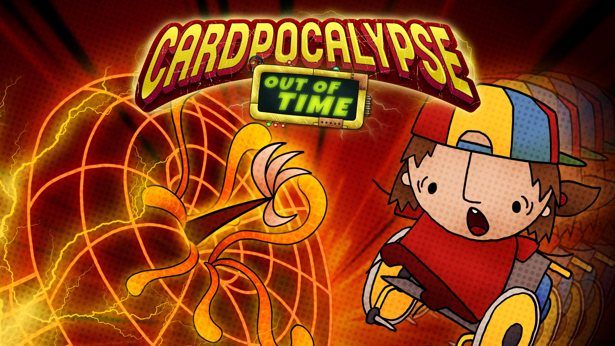 Cardpocalypse Out of Time logo and artwork