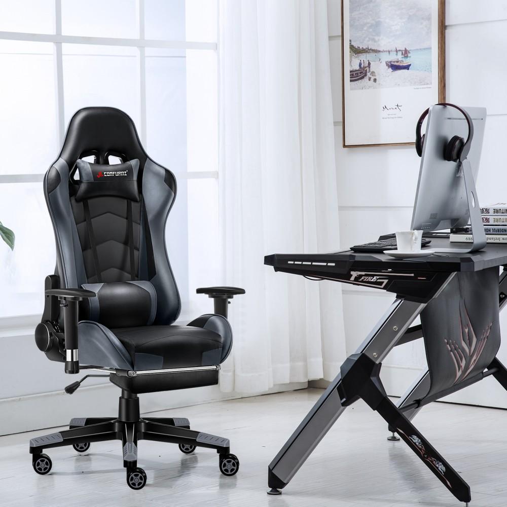 JL Comfurni Gaming Chair at a desk