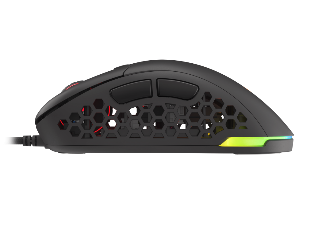Left side view of the Genesis Xenon 800 gaming mouse