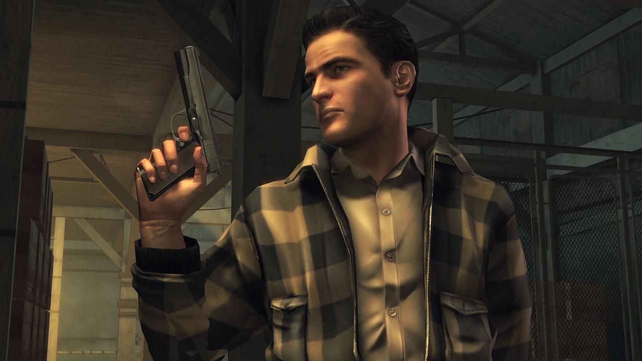 Mafia II character holding a gun
