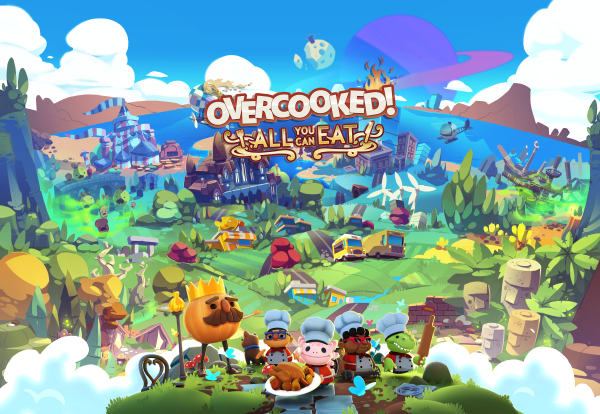 Overcooked! All You Can Eat logo and artwork