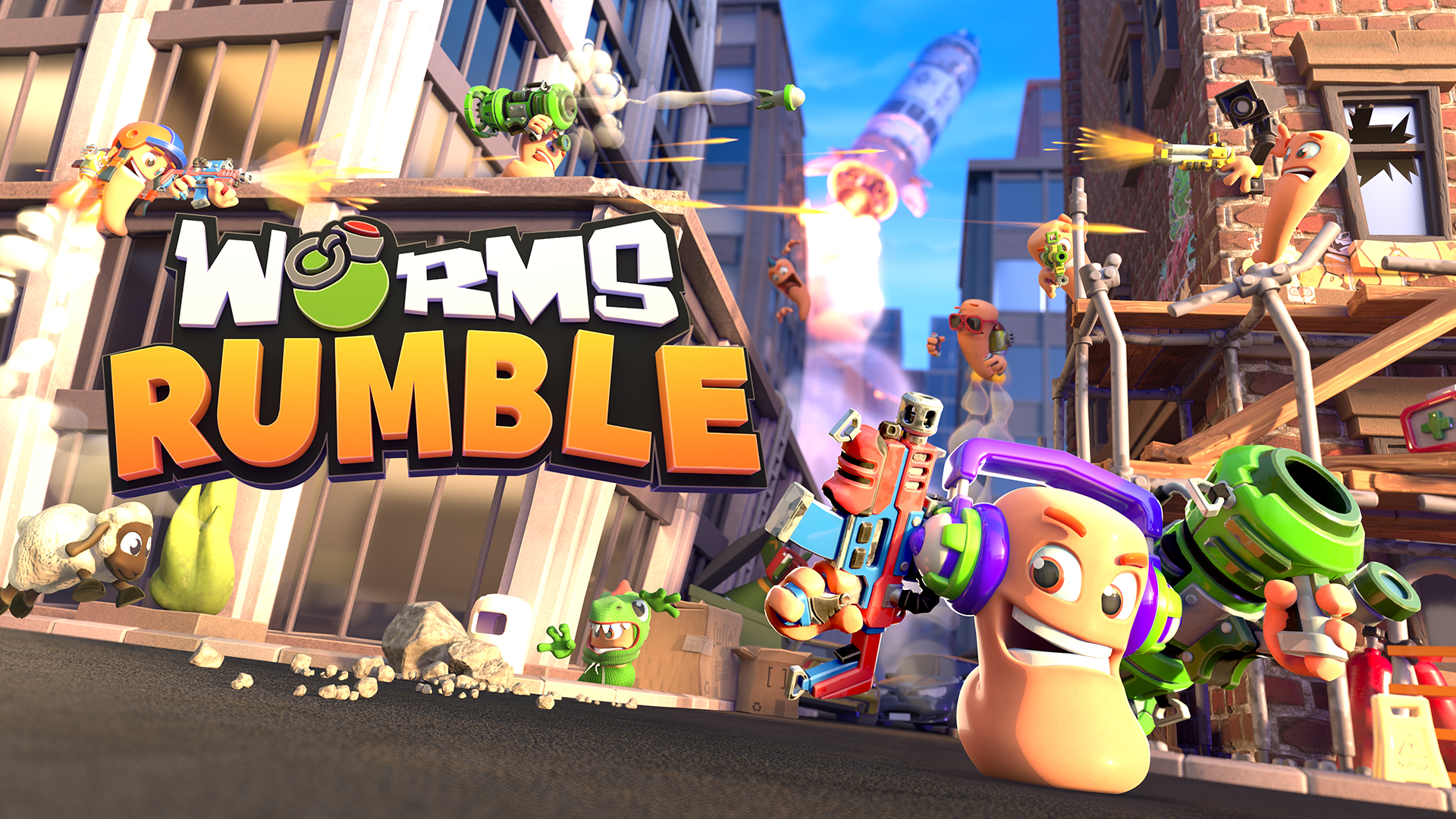 Worms Rumble logo and artwork