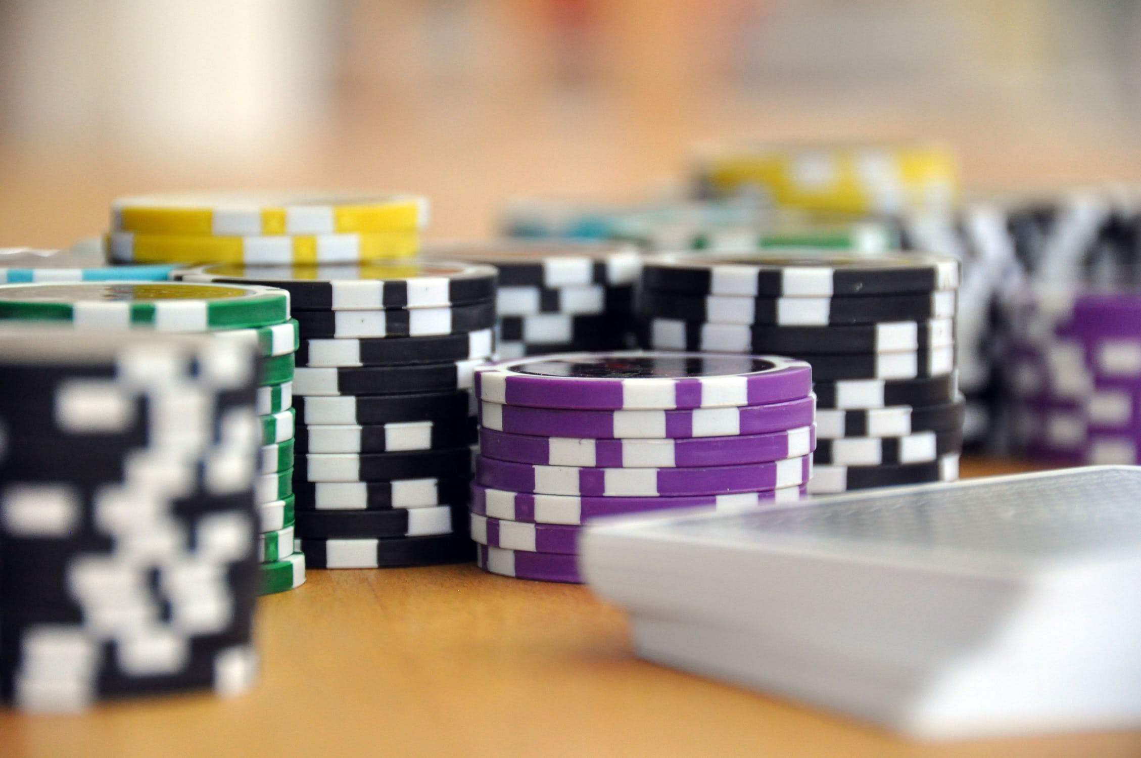 Playing Cards and Poker Chips on a table